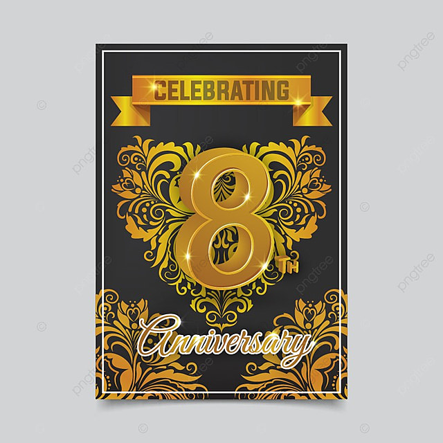 realistic wedding anniversary card template template for free