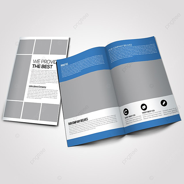 creative business bifold brochure template for free