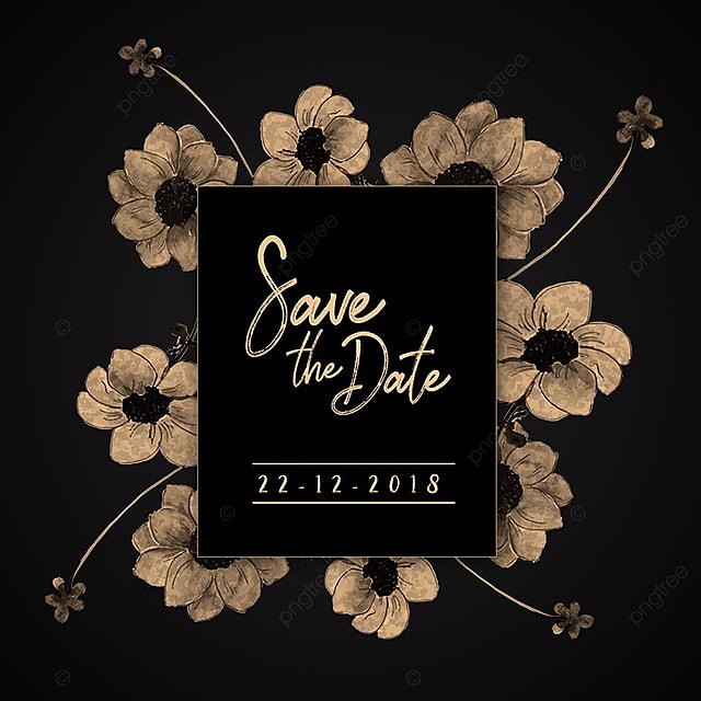 Aquarell Floral Vintage Hochzeit Einladung Vorlage Zum Kostenlosen