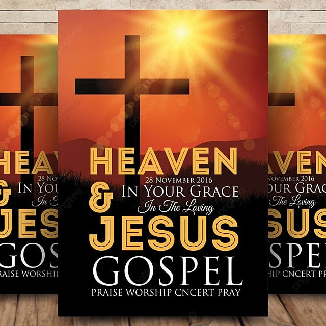 15 Excellent Flyer Templates For Your Next Event: Jesus Church Flyer Template For Free Download On Pngtree