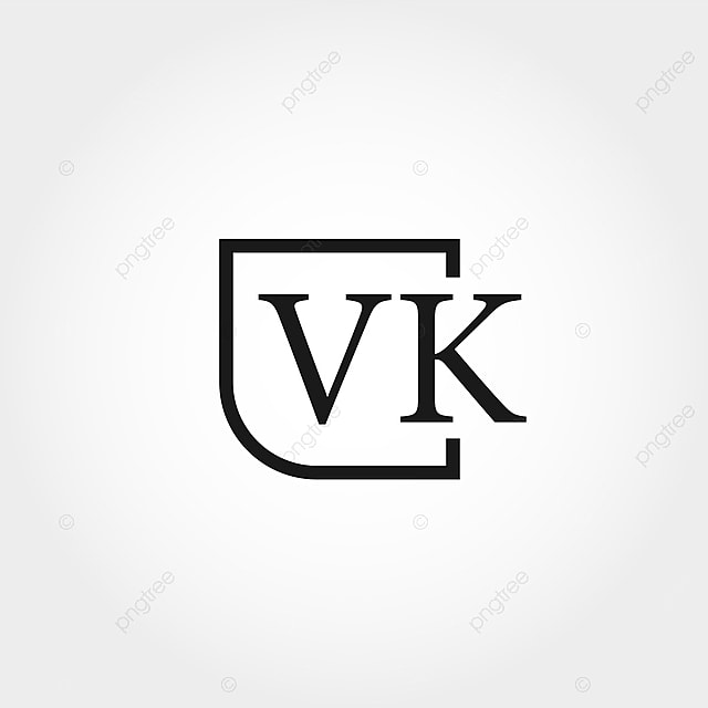 Initial Letter Vk Logo Template Design Template For Free