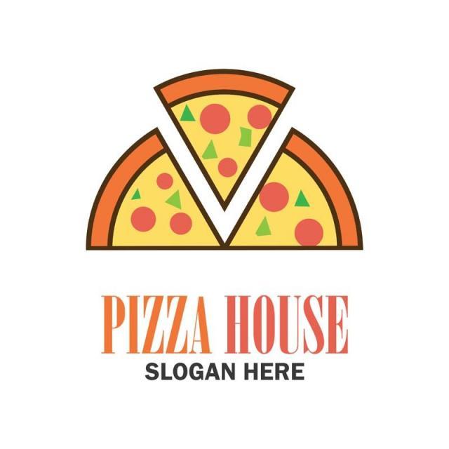 59b193e9cdf13 شعار بيتزا مع النص الخاص بك الفضاء من أجل شعار مكافحة ناقلات التوضيح قالب
