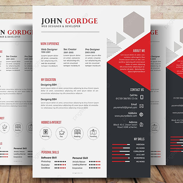 modern cv resume templates template for free download on pngtree