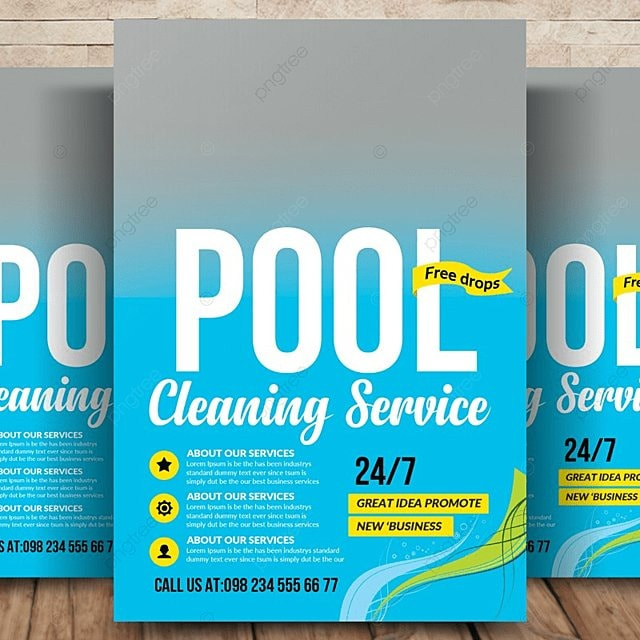 Swimming Pool Cleaning Flyer Template For Free Download On