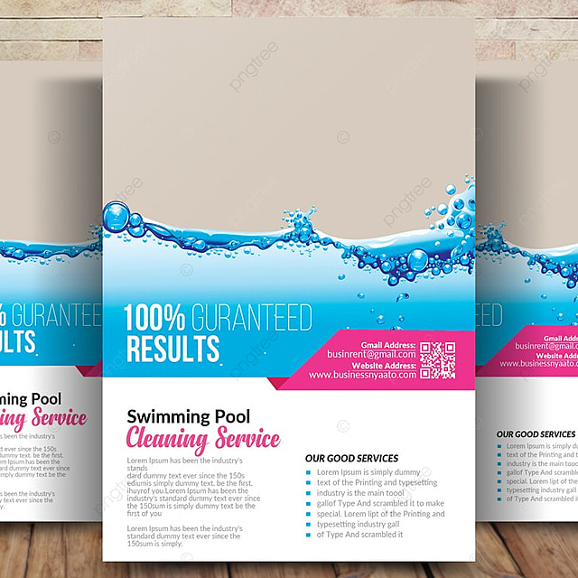 Swimming Pool Cleaning Flyer Template For Free Download On Pngtree