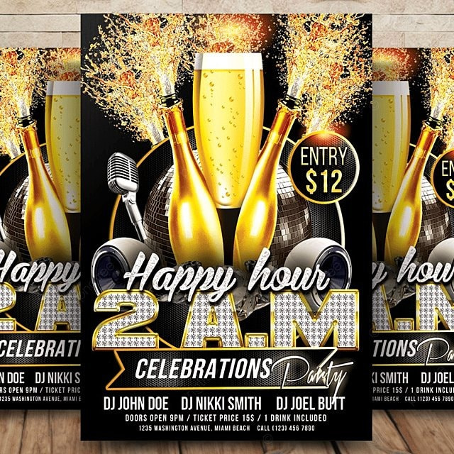happy hour flyer templates template for free download on pngtree