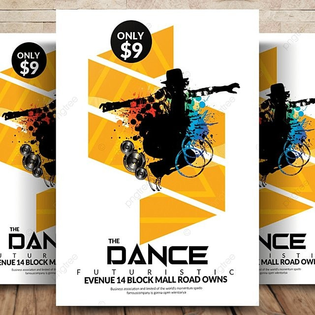Electro Dance Flyer Template For Free Download On Pngtree