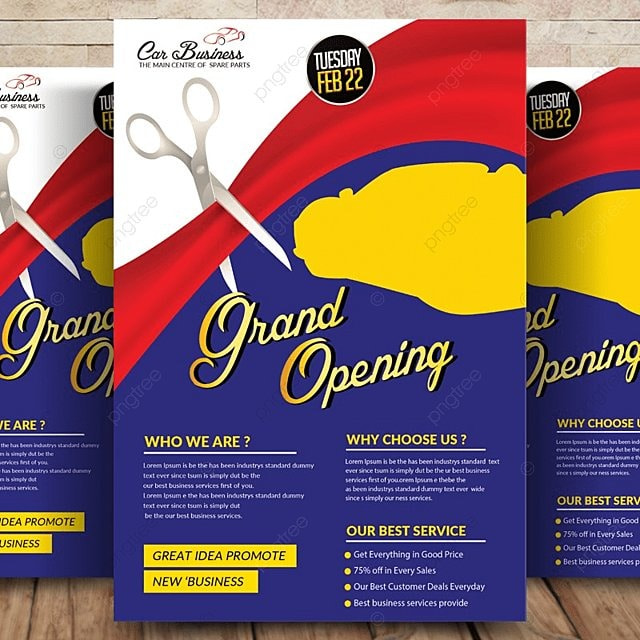 Grand Opening Flyer Template Template For Free Download On Pngtree