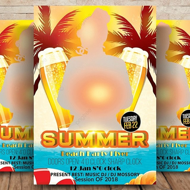 sommer beach party flyer Vorlage zum kostenlosen Download auf Pngtree