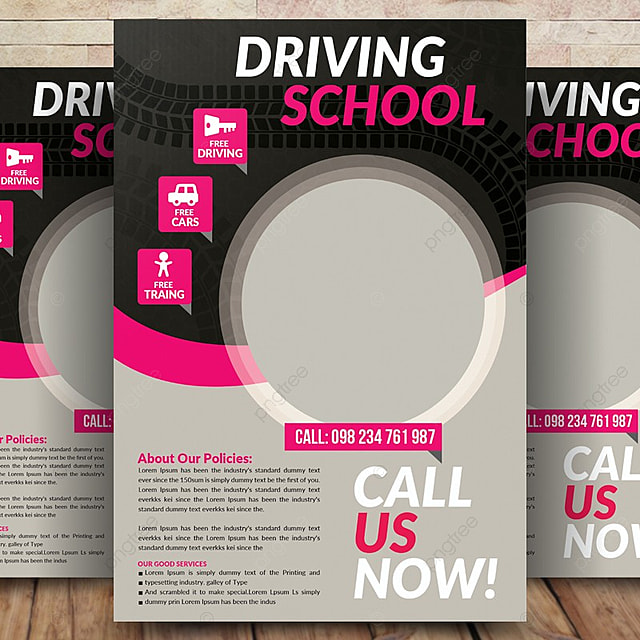 driving school flyer template template for free download on pngtree