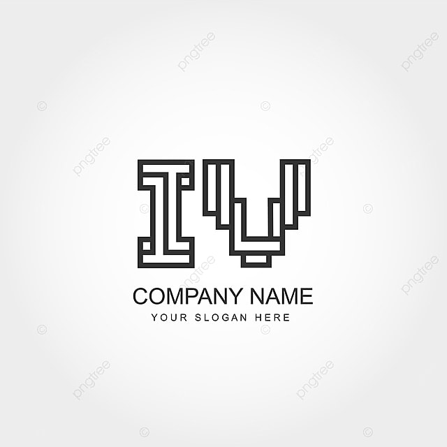 Initial Letter Iv Logo Design Template For Free Download On