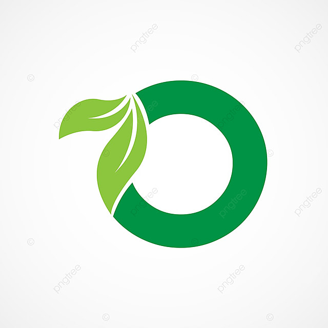 letter o leaf logo template template for free download on pngtree