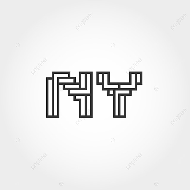 initial letter ny logo template template for free download on pngtree