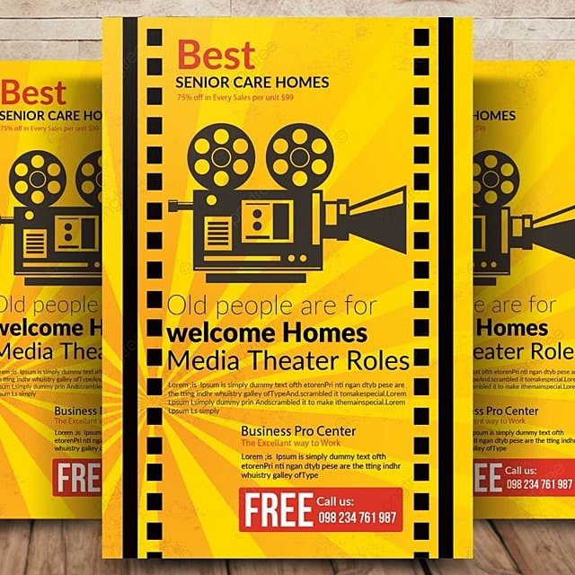 movie night flyer template for free download on pngtree