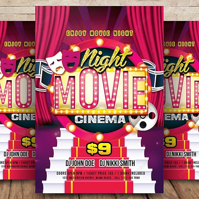 theater movie flyer template for free download on pngtree