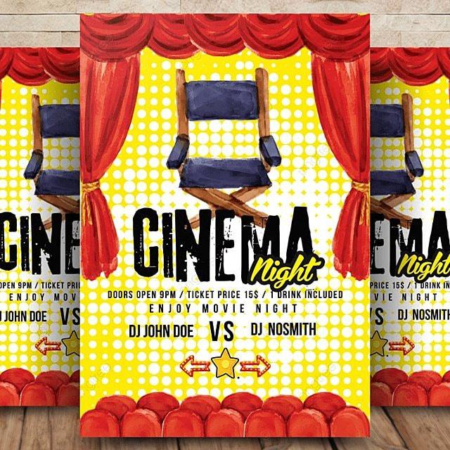 pngtreeに映画の夜の映画フライヤーテンプレートの無料ダウンロード