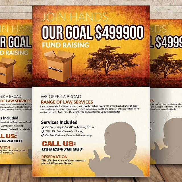 charity donation flyer template for free download on pngtree