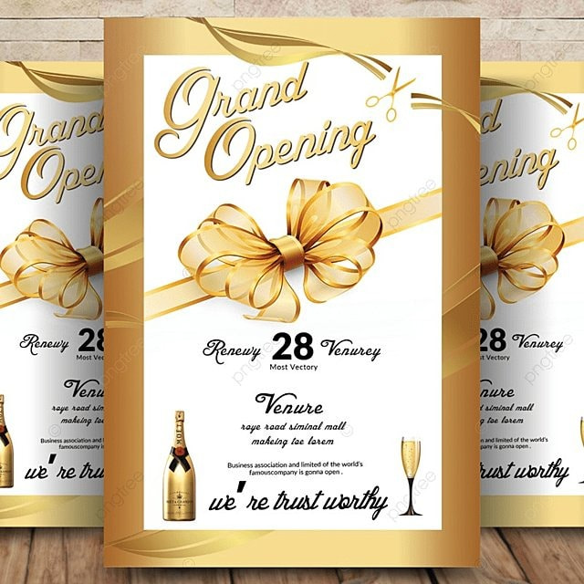 Grand Opening Flyer Template For Free Download On Pngtree