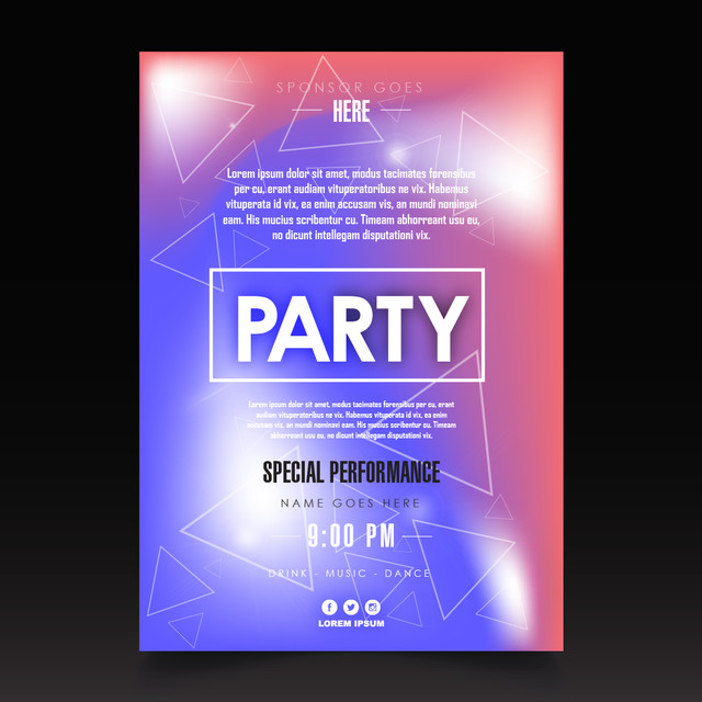 night club party plakat vorlage Vorlage zum kostenlosen Download auf ...