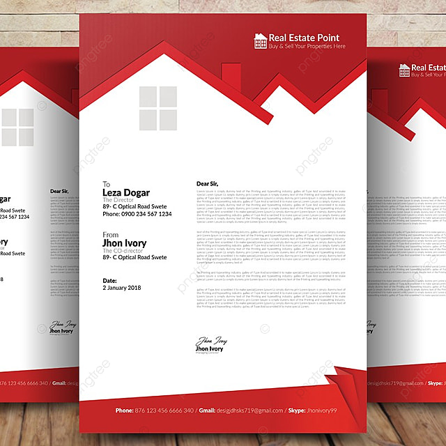real estate letterhead template for free download on pngtree