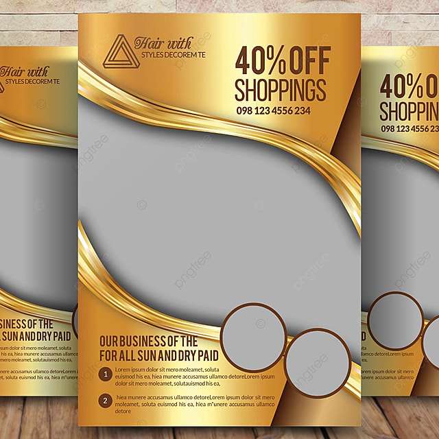 Hair Psd Free Download: Hair & Beauty Salon Business Poster Template For Free