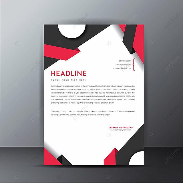 Vector Briefkopf Designs Briefpapier Vorlage Zum Kostenlosen