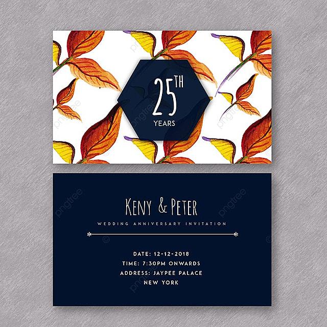Acuarela Floral Aniversario De Boda Tarjetas De Invitación