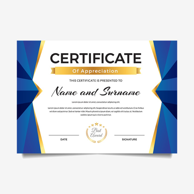 Modern Premium Business Certificate Of Achievement And ...