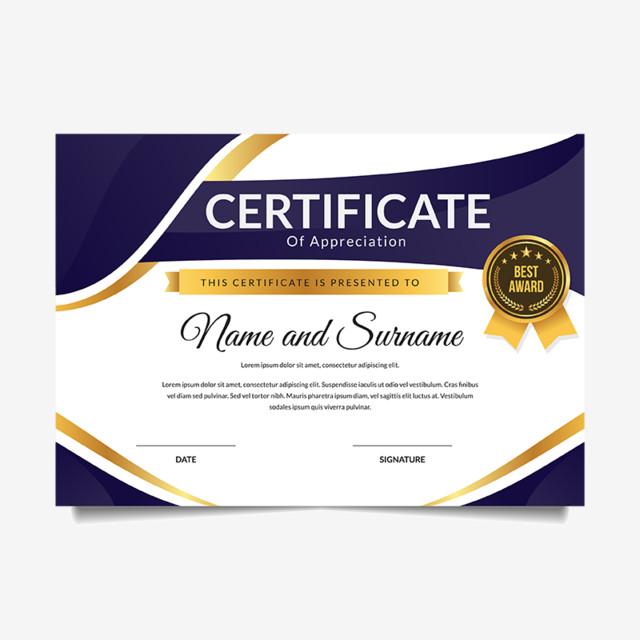 Modern Premium Business Certificate Of Achievement And Appreciation