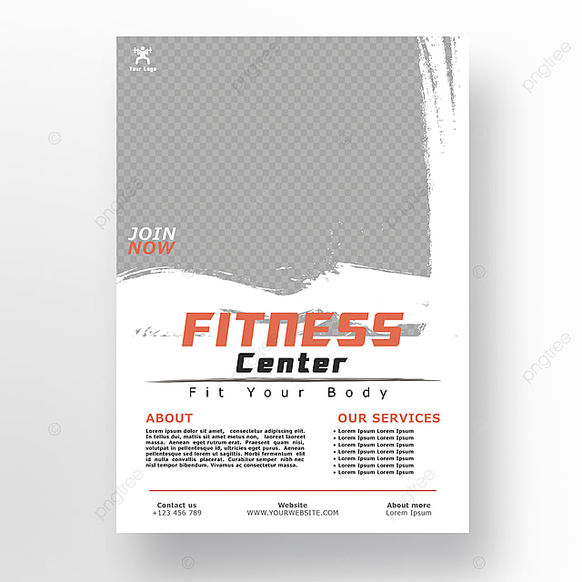 Fitness Center Gym Poster Design Template for Free Download
