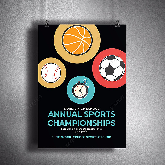 annual sports poster template for free download on pngtree