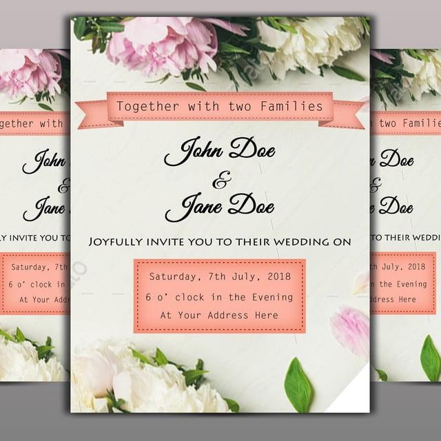 la tarjeta de invitacion de boda descarga gratuita de plantilla en