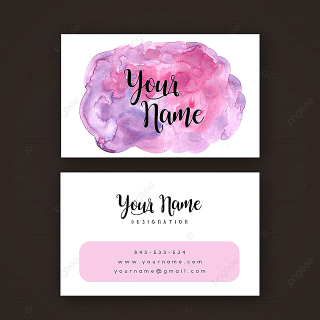 Watercolor Business Card Template For Free Download On Pngtree