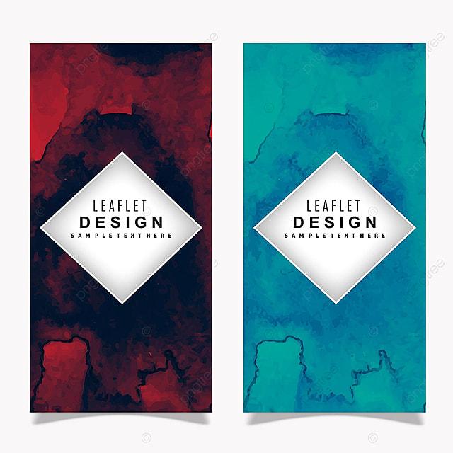 pngtreeにカラフルな水彩画のリーフレットバナーデザインテンプレートの
