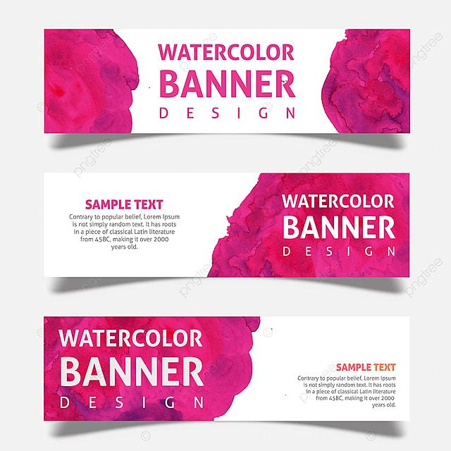 pngtreeに水彩画のビジネスバナーデザインテンプレートの無料ダウンロード