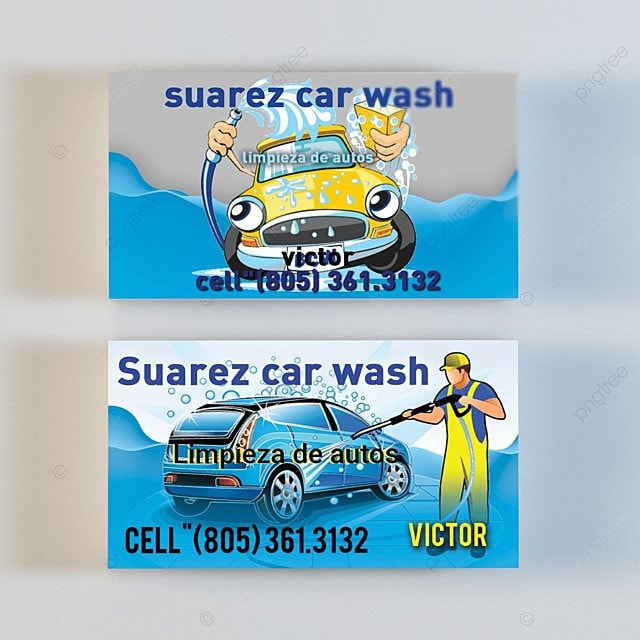Car Wash Business Card Template For Free Download On Pngtree
