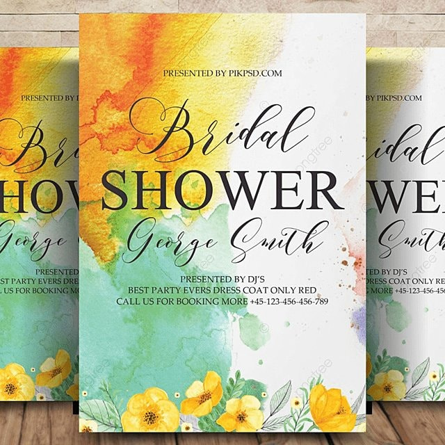 Bridal Shower Invitation Template For Free Download On Pngtree - Bridal shower flyer template