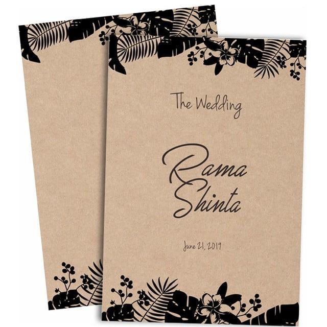 rustic craft wedding invitation template