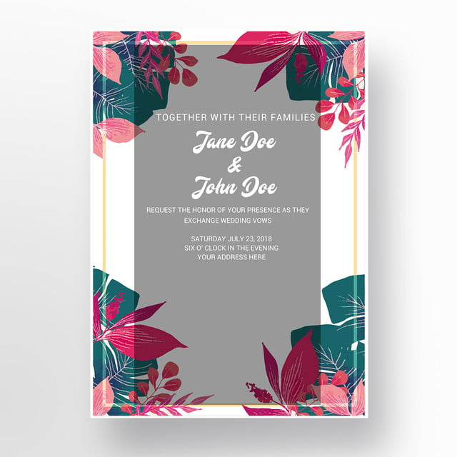 wedding card template for free download on pngtree