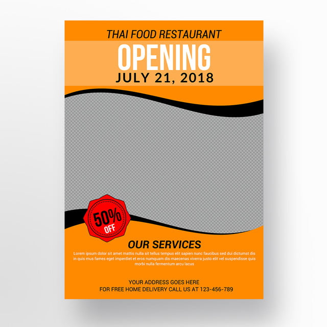 Food Restaurant Flyer Template For Free Download On Pngtree