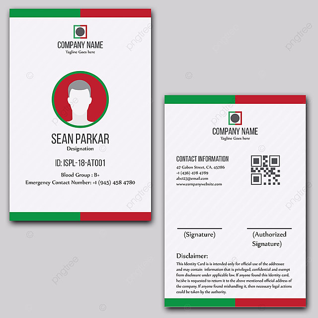 Id Design On Card Pngtree Free For Download Template