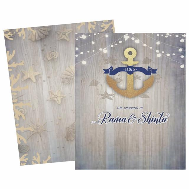 Sea Theme Wedding Card Template for Free Download on Pngtree