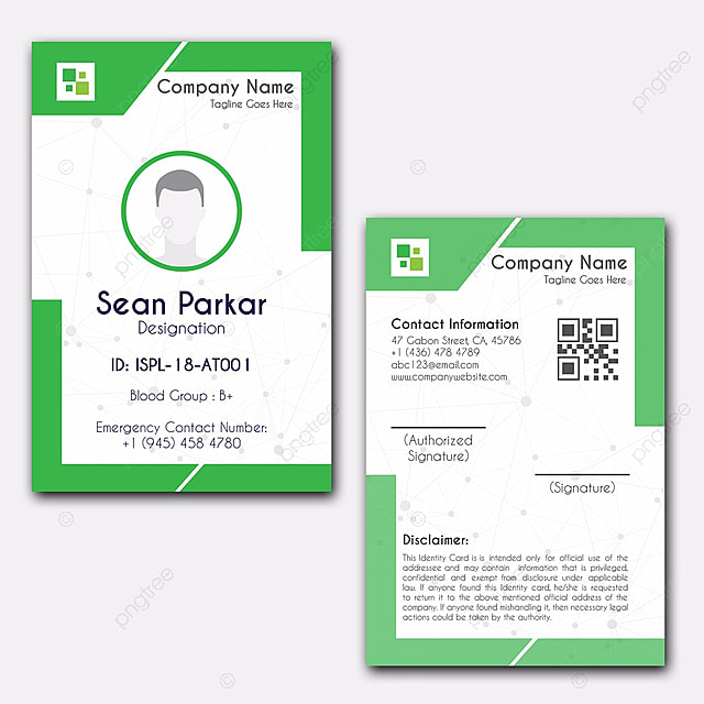 Identity Card Design Template for Free Download on Pngtree