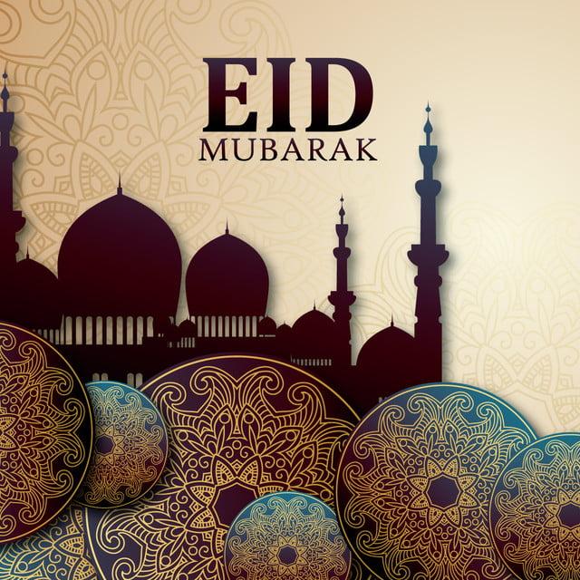 eid mubarak illustration template for free download on pngtree