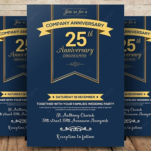 company anniversary flyer template for free download on