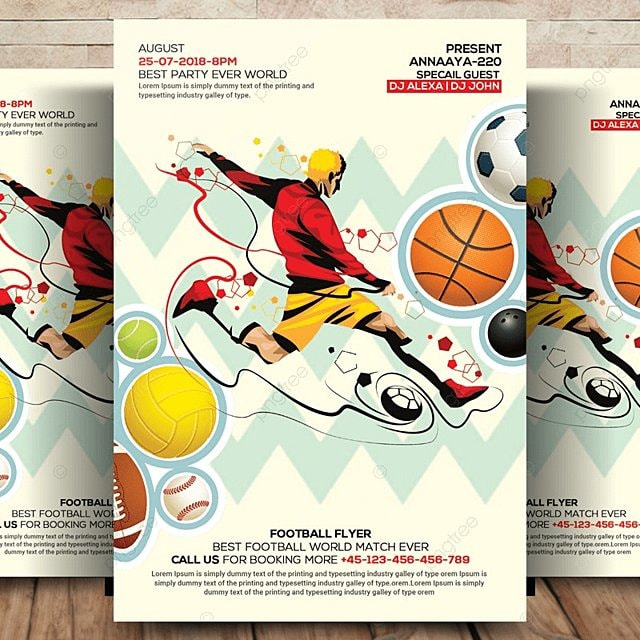 Sports Flyer Template for Free Download on Pngtree