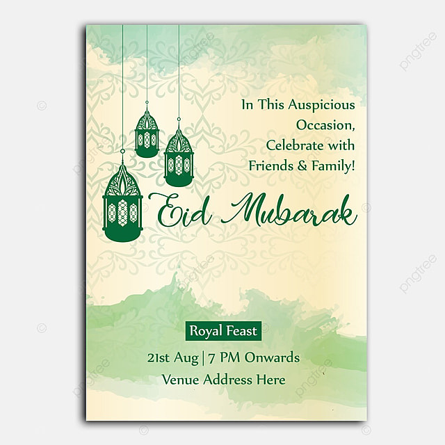 Eid Invitation Template For Free Download On Pngtree