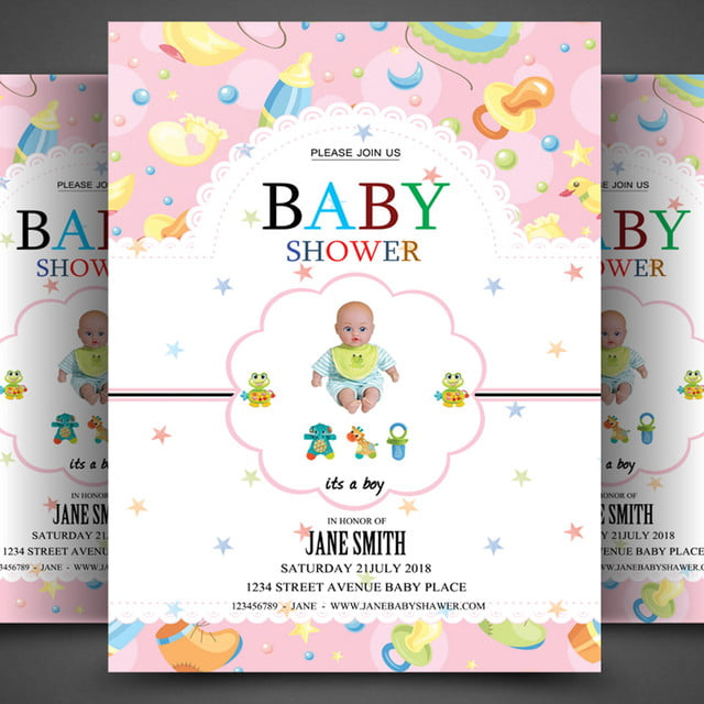 Baby Shower Flyer Template For Free Download On Pngtree