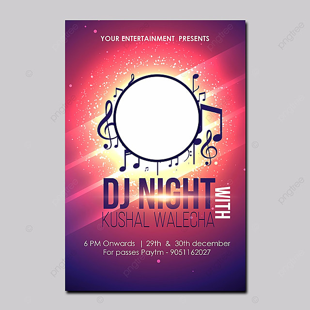 dj party poster design template for free download on pngtree