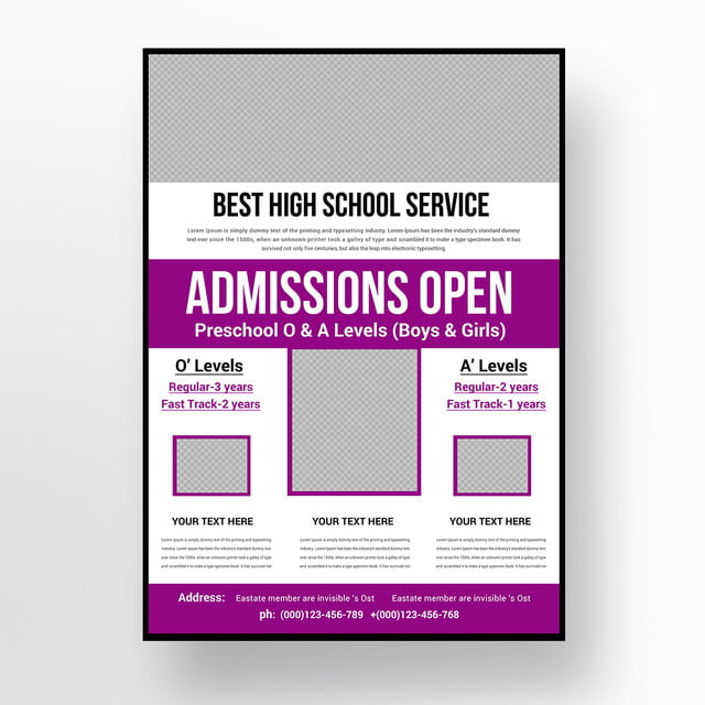 Admission Open School Flyer Template for Free Download on Pngtree
